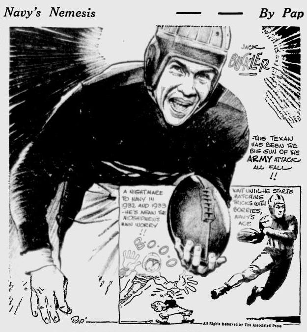ArmyFB_1934_JackBuckler_byPap_Telegraph_Nov271934