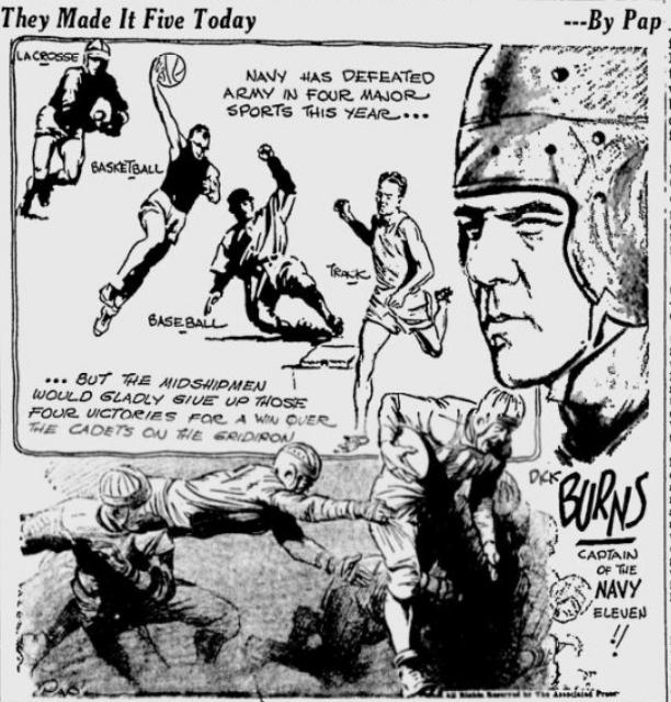 ArmyFB_1934_vsNavy-pre_byPap_SpokaneDailyChronicle_Dec11934