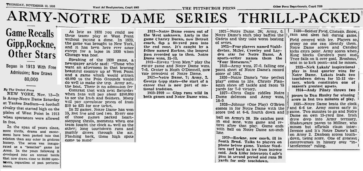 armyfb_1936_notredame-series-recap_pittsburghpress_nov121936