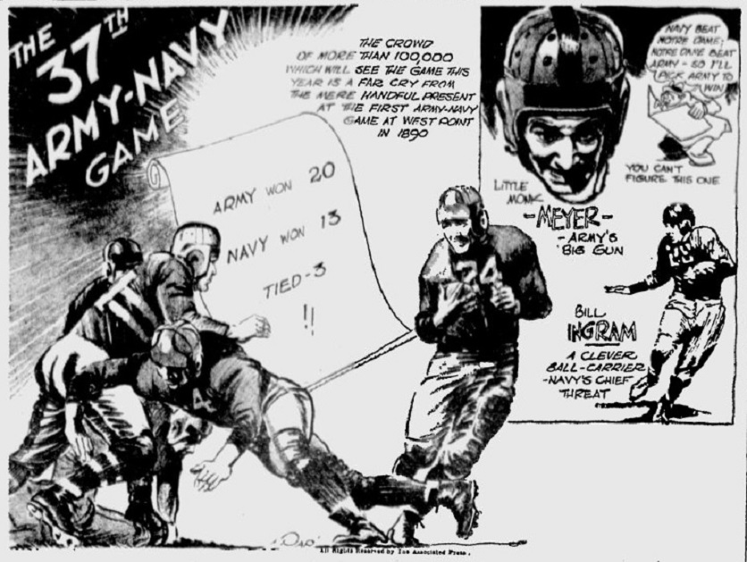 ArmyFB_1936_vsNavy_byPap_TheTelegraph_Nov271936