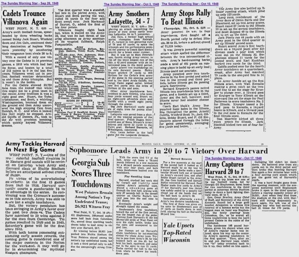 ArmyFB_1948_various_SundayMorningStar-Wilmington_Sep-Oct1948