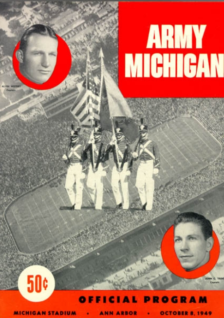 ArmyFB_1949_vsMichigan-program_Oct81949
