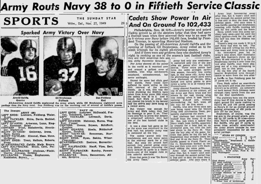 ArmyFB_1949_vsNavy_SundayMorningStar_Nov271949