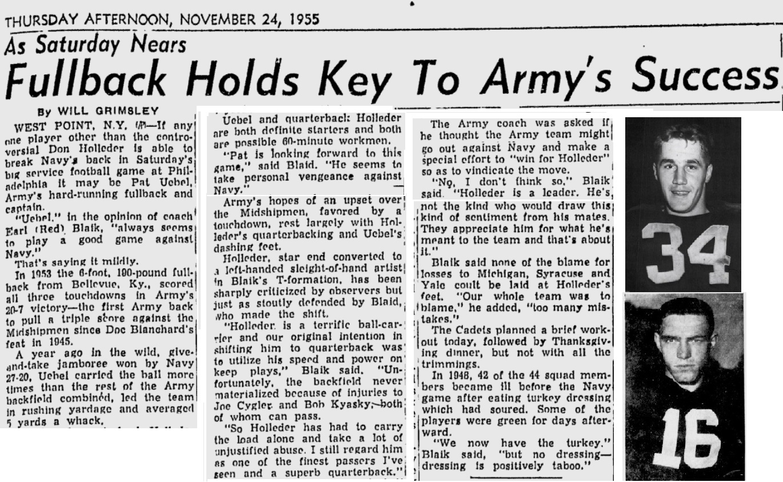 armyfb_1955_vsnavy-pre_uebel-holleder_timesdaily_nov241955