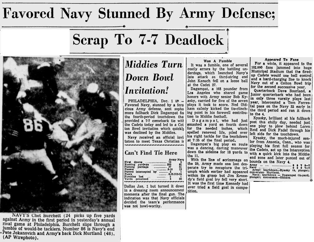 ArmyFB_1956_vsNavy_SarasotaHeraldTribune_Dec21956