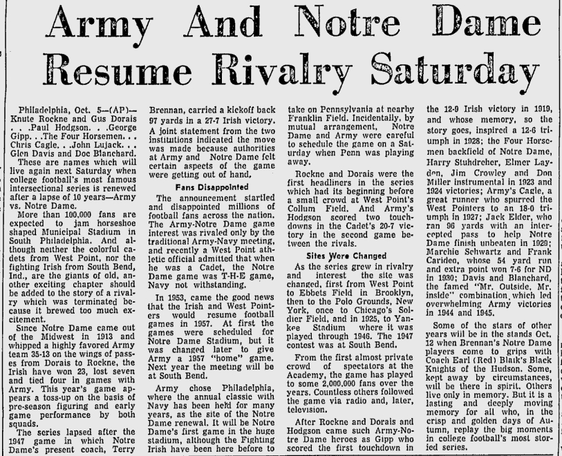 armyfb_1957_vsnotredame_miaminews_oct61957