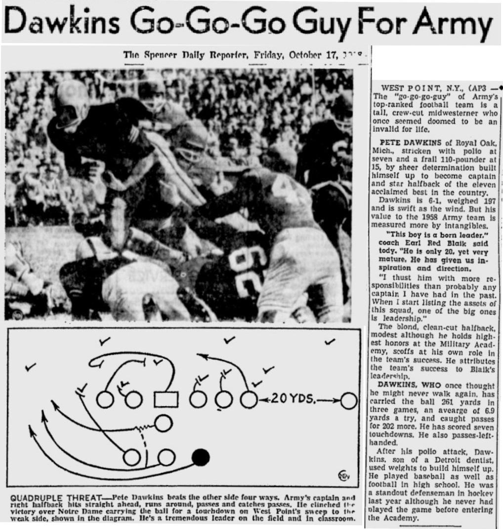 armyfb_1958_dawkins_dailyreporter_oct161958