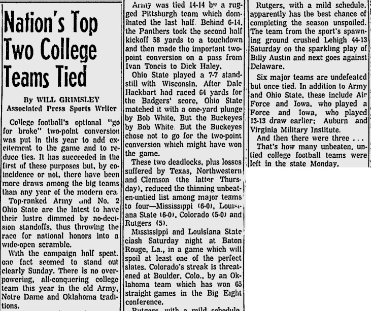 armyfb_1958_tied_washingtonpaobserver_oct271958