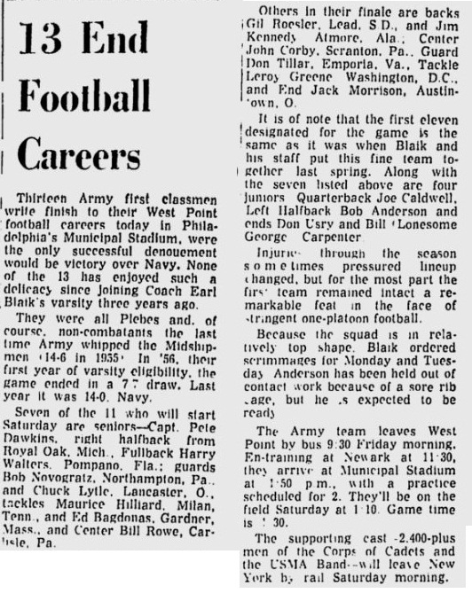 armyfb_1958_vsnavy_13seniors_newburghnews_nov291958