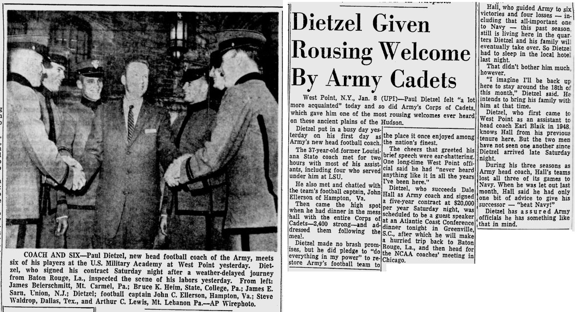 ArmyFB_1962_Dietzel-arrives_ReadingEagle_Jan81962