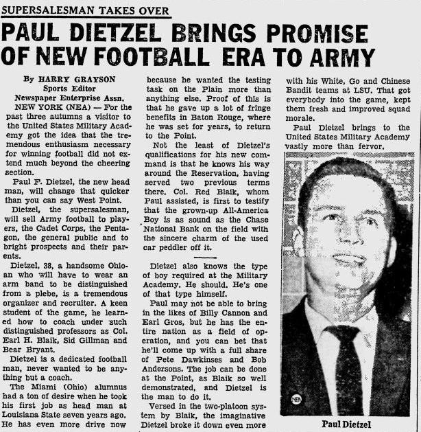 ArmyFB_1962_PaulDietzel_OcalaStarBanner_Jan121962