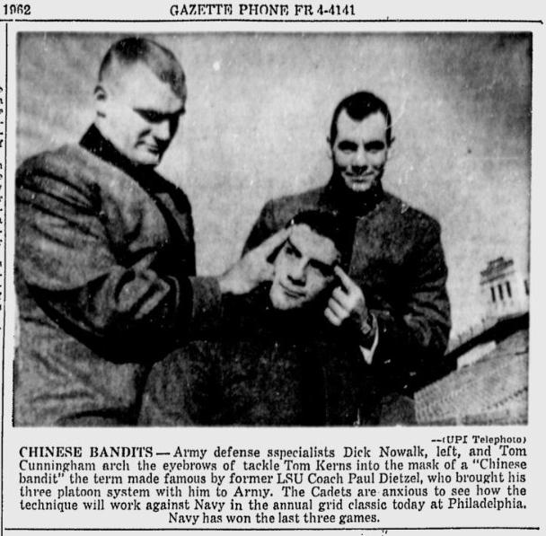 ArmyFB_1962_vsNavy-Bandits_SchenectadyGazette_Dec11962