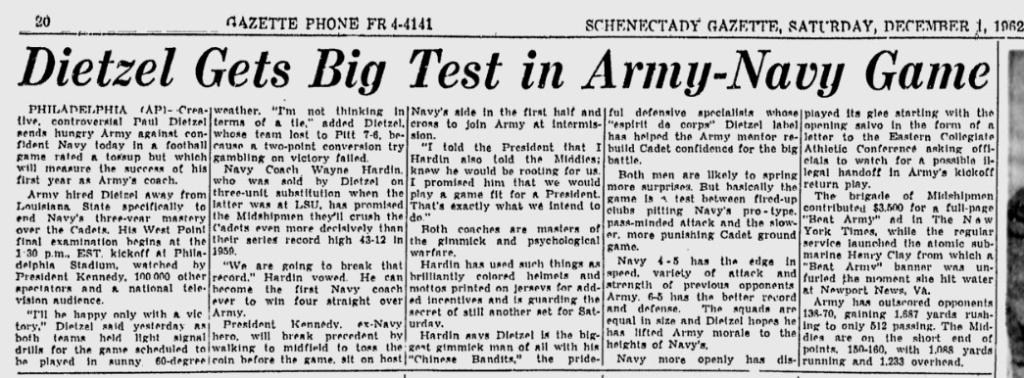 ArmyFB_1962_vsNavy_SchenectadyGazette_Dec11962