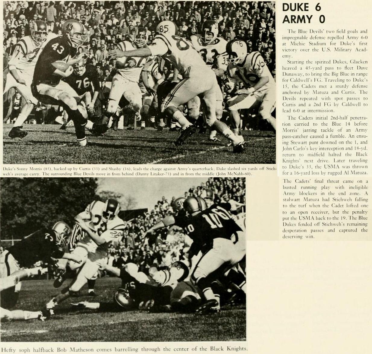 armyfb_1964_vsduke_chanticleeryearbook65