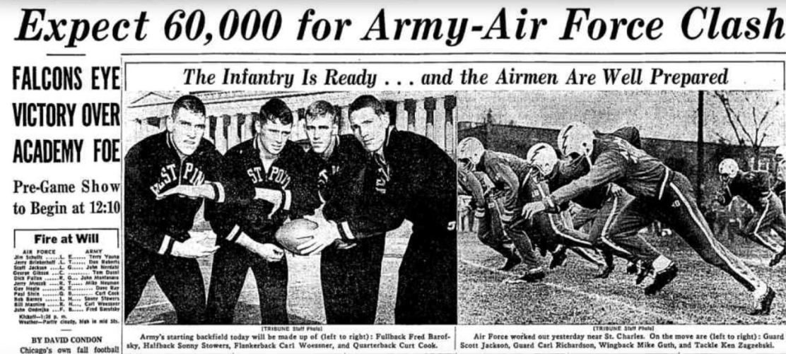 ArmyFB_1965_vsAF-pre_ChicagoTribune_Nov61965