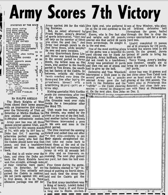 armyfb_1967_vsutah_newburgheveningnews_nov131967