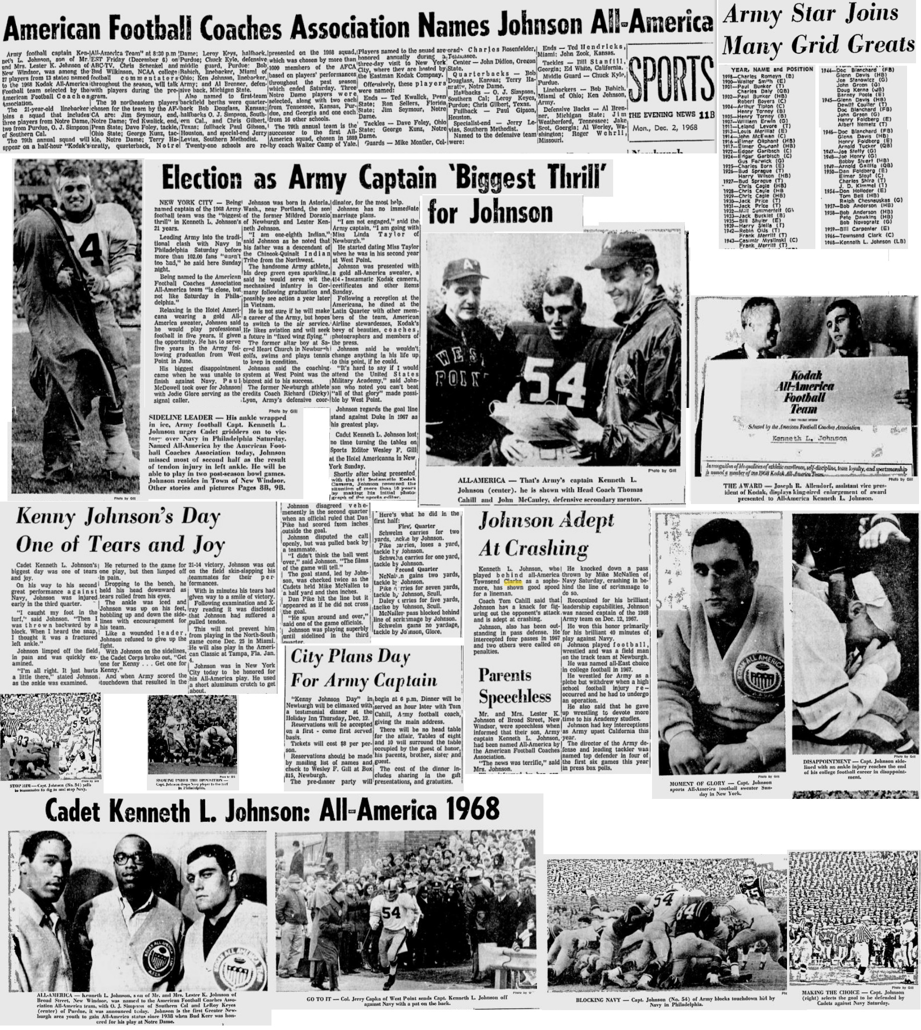 armyfb_1968_kenjohnson_eveningnews_dec21968