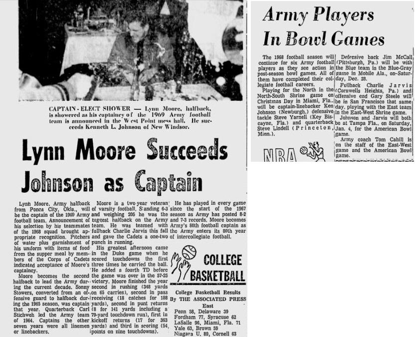armyfb_1969_lynnmoore-captain_eveningnews_dec121968