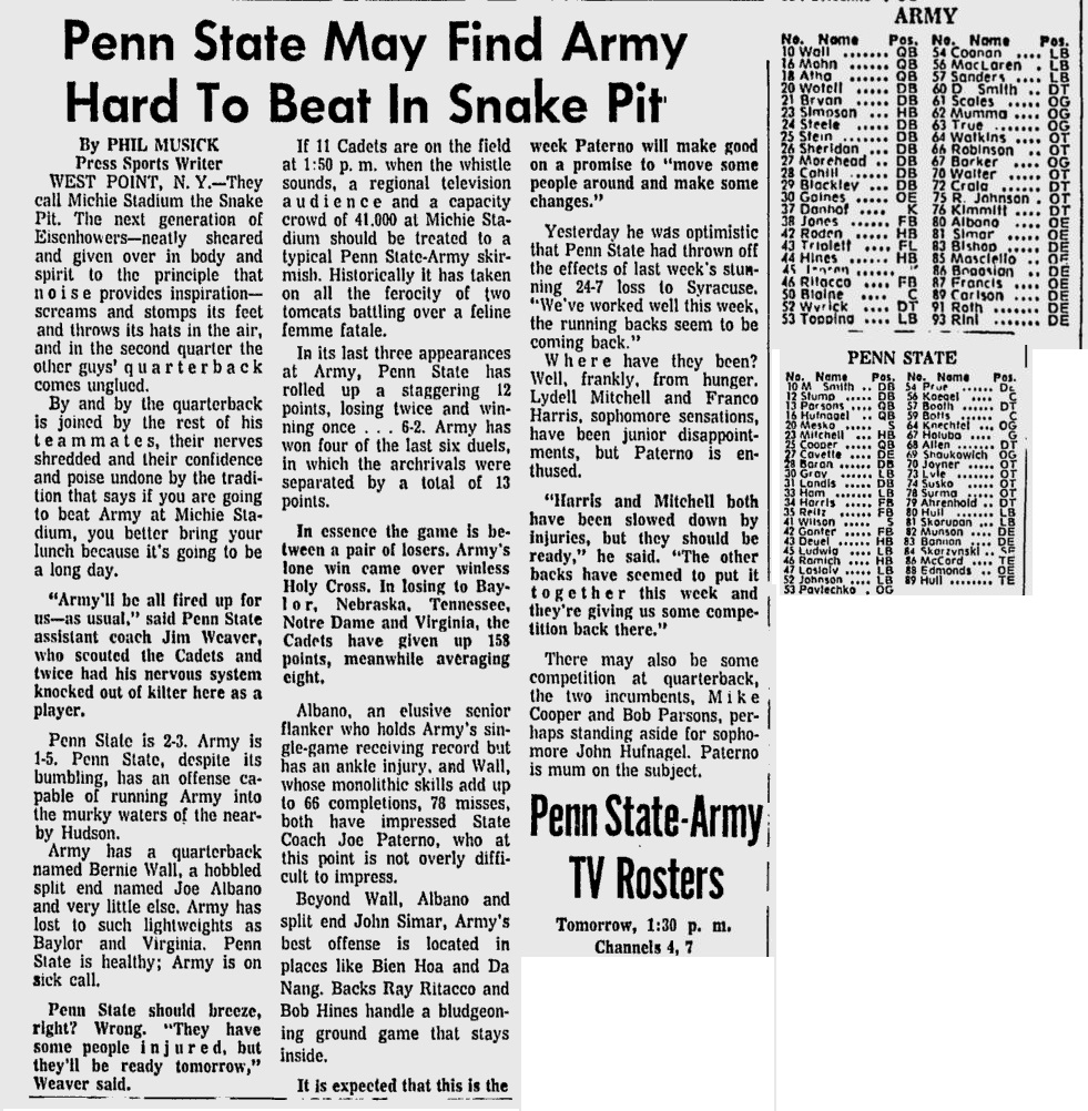 armyfb_1970_vspennstate_pittsburghpress_oct231970