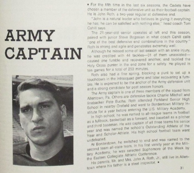 ArmyFB_1971_JohnRoth-Captain_ArmyFootballProgram