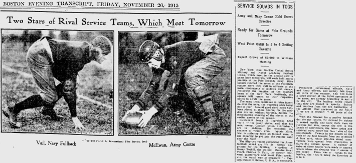 ArmyFB_1915_vsNavy-pre_CptMcEwan_BostonEveningTranscript_Nov261915