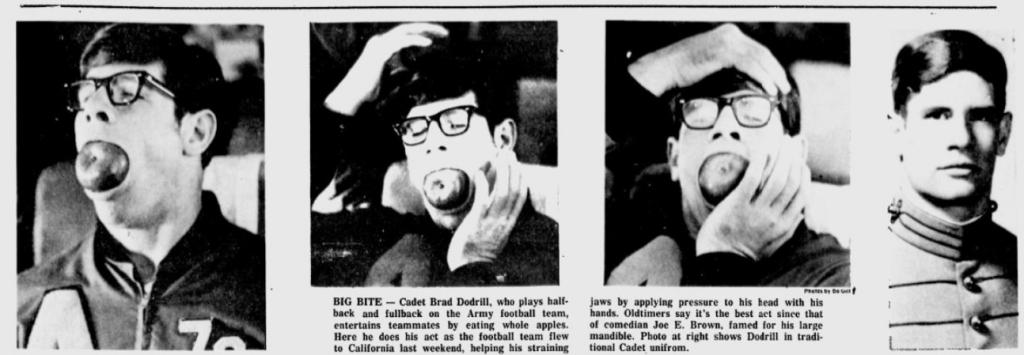ArmyFB_1974_BradDodrill_Apple-Eater_EveningNews_Oct21974