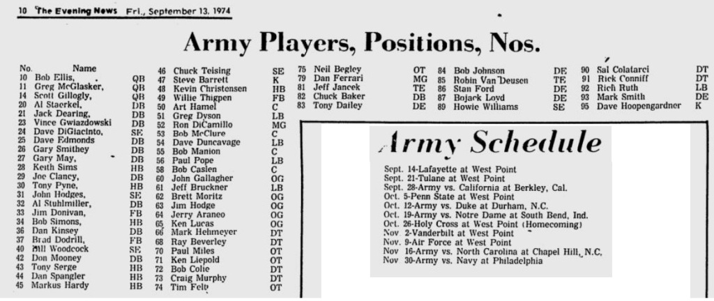 ArmyFB_1974_roster_EveningNews_Sep131974