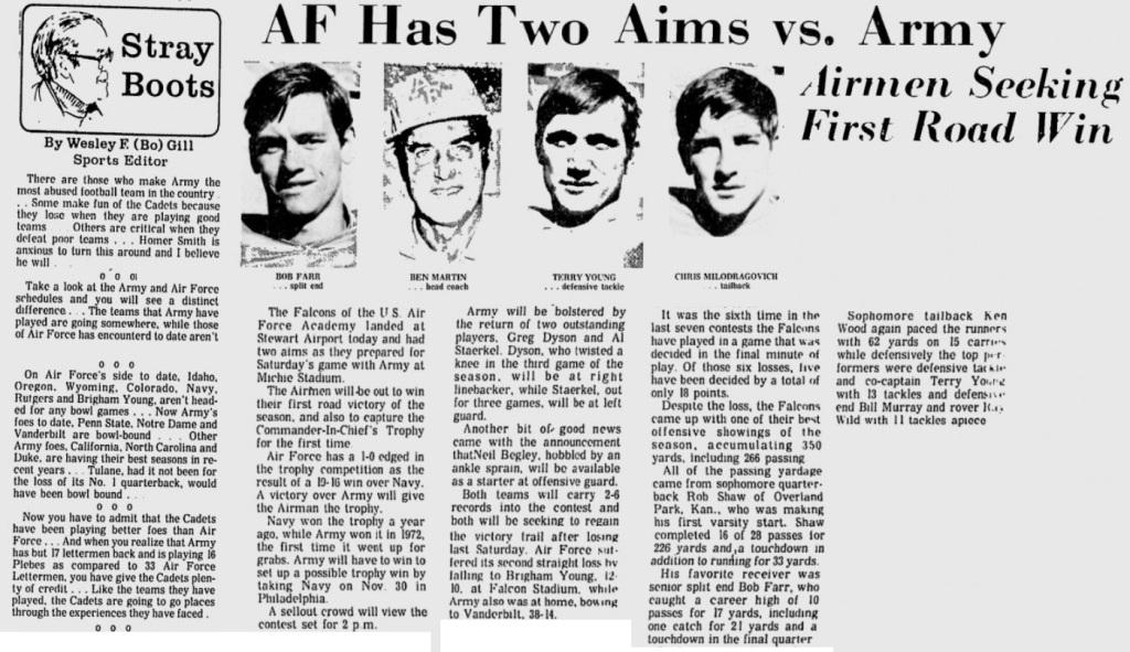 ArmyFB_1974_vsAF-pre_EveningNews_Nov81974