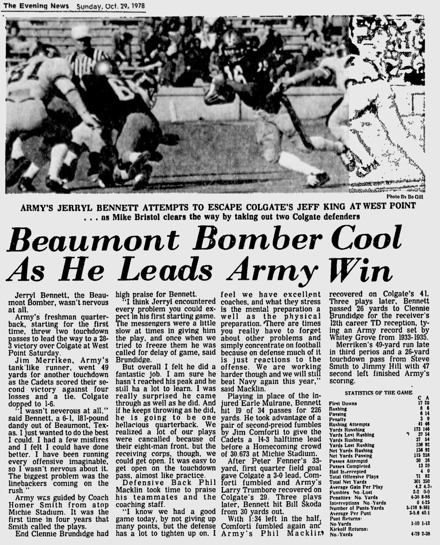 ArmyFB_1978_vsColgate_EveningNews_Oct291978