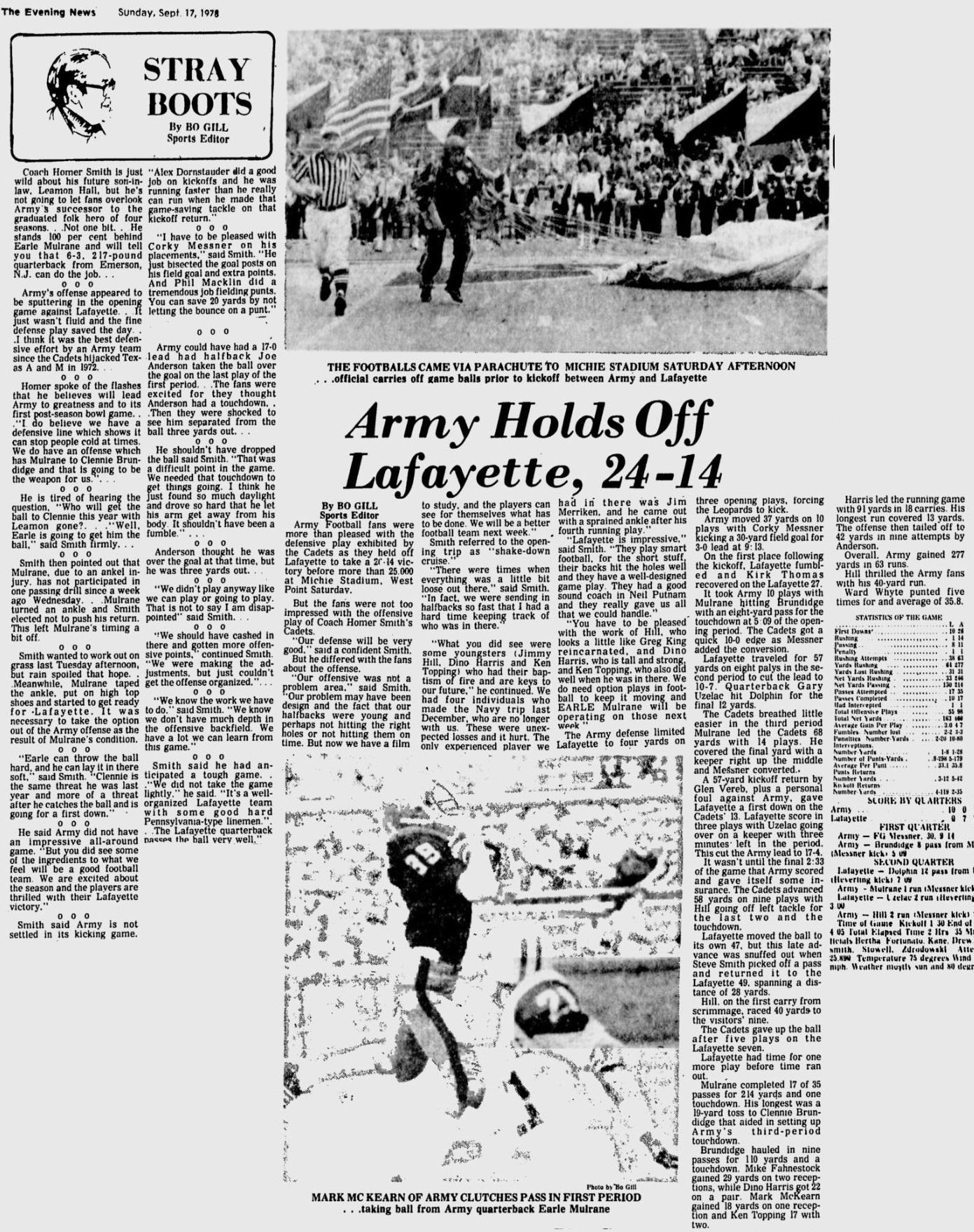 ArmyFB_1978_vsLafayette_EveningNews_Sep171978