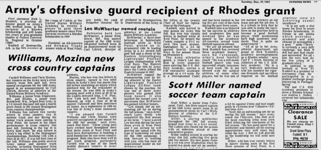 ArmyFB_1981_RickWaddell-OG-RhodesScholar_EveningNews_Dec271981