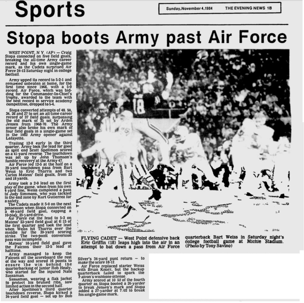 ArmyFB_1984_vsAF_EveningNews_Nov41984