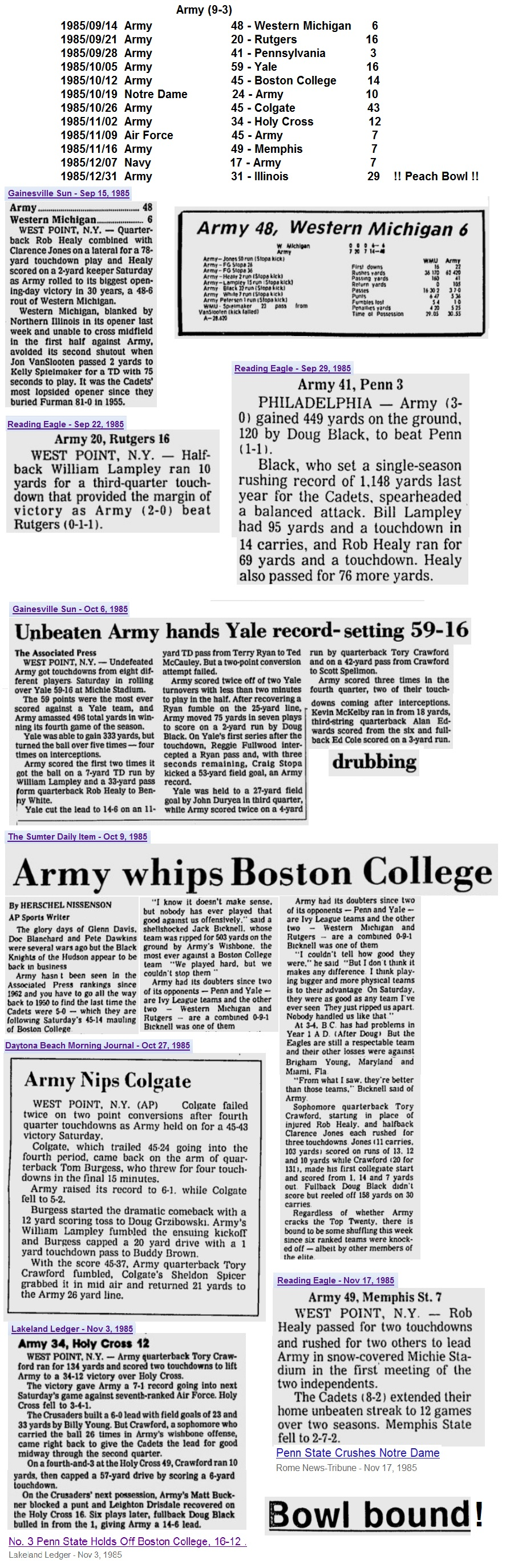 ArmyFB_1985_victories_various _Sep-Nov1985