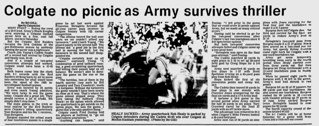 ArmyFB_1985_vsColgate_EveningNews_Oct271985