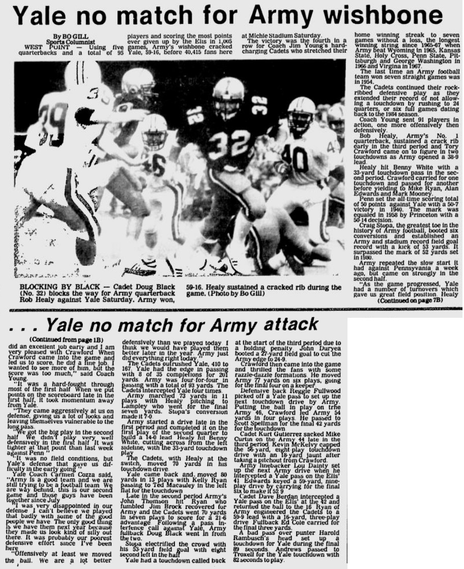ArmyFB_1985_vsYale_EveningNews_Oct61985