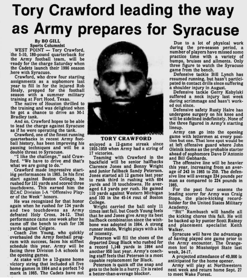 ArmyFB_1986_ToryCrawford_EveningNews_Sep111986