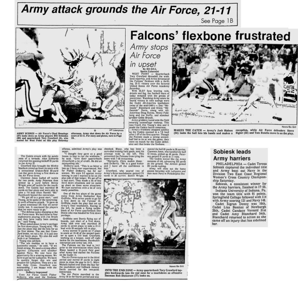 ArmyFB_1986_vsAF_EveningNews_Nov91986