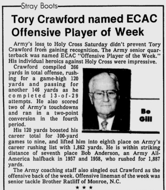 ArmyFB_1987_ToryCrawford_Evening News _Sep161987