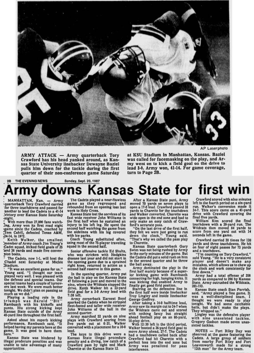 ArmyFB_1987_vsKState_EveningNews_Sep201987
