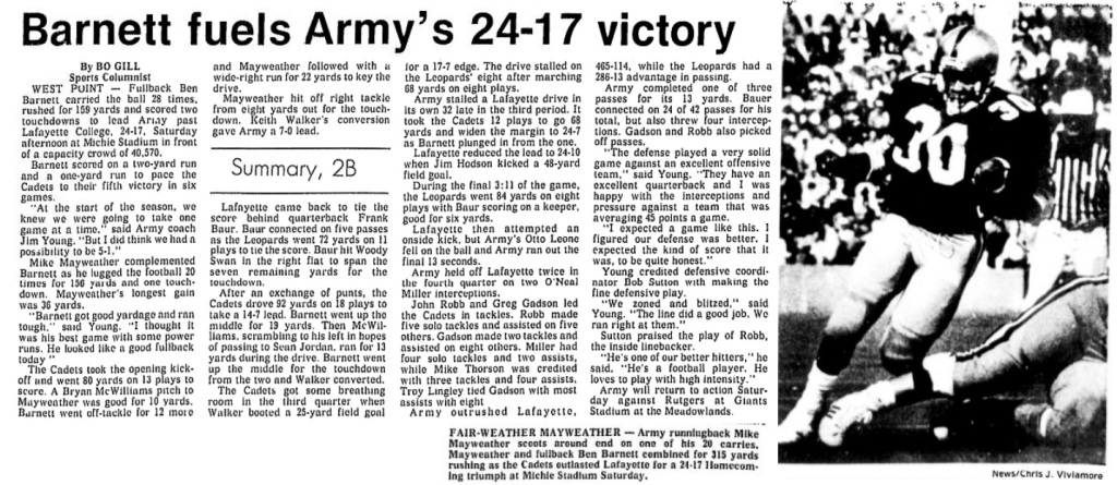 ArmyFB_1988_vsLafayette_EveningNews_Oct161988