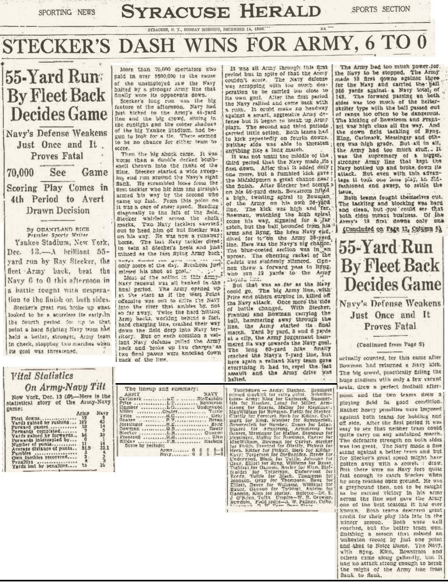 ArmyFB_1930_vsNavy_SyracuseHerald_Dec141930