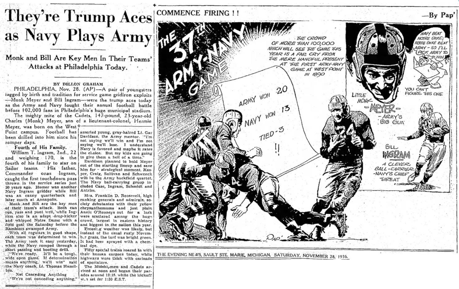 armyfb_1936_vsnavy_eveningnewssaulsaintemariemi_nov281936