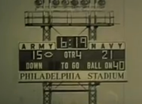 ArmyFB_1963_Stichweh-Navyfilm_TDrun-4Q-scoreboard