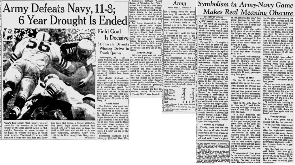 ArmyFB_1964_vsNavy_MilwaukeeJournal_Nov291964