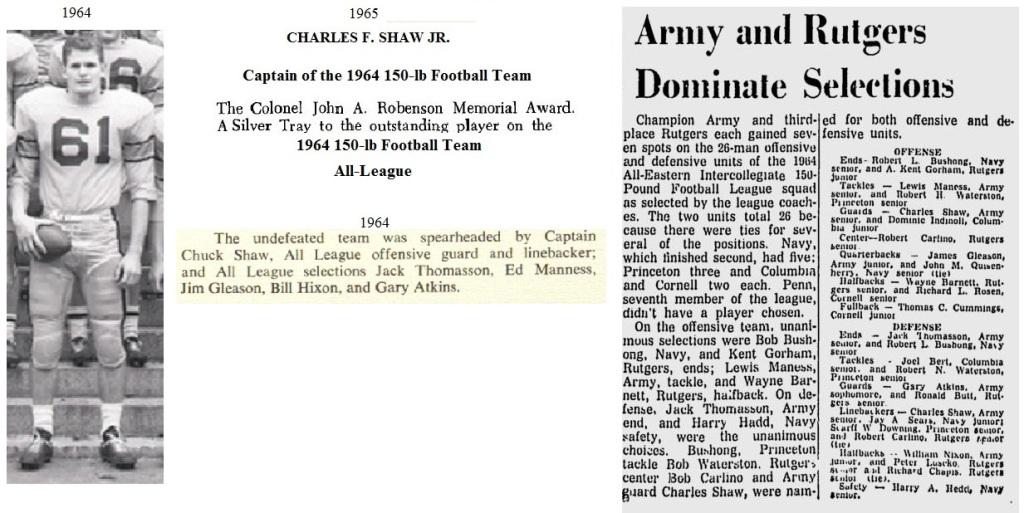 CharlesShaw_ArmyLFB_1965_CaptainandRobensonMVP64