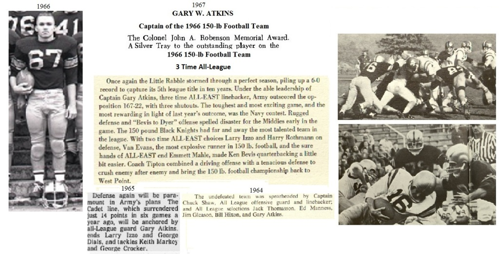 GaryAtkins_1967_ArmyLFB-1966_CaptainandRobensonMVP66