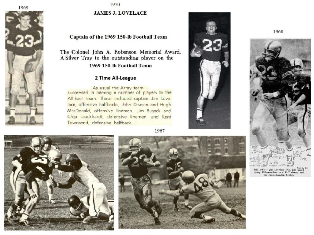 JimLovelace_1970_ArmyLFB-1969_CaptainandRobensonMVP69