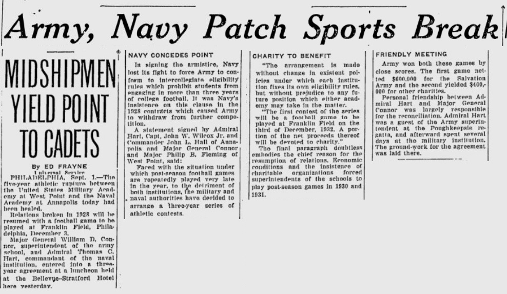 ArmyvsNavy_1932_Patch-up_TheTelegraph_Sep11932