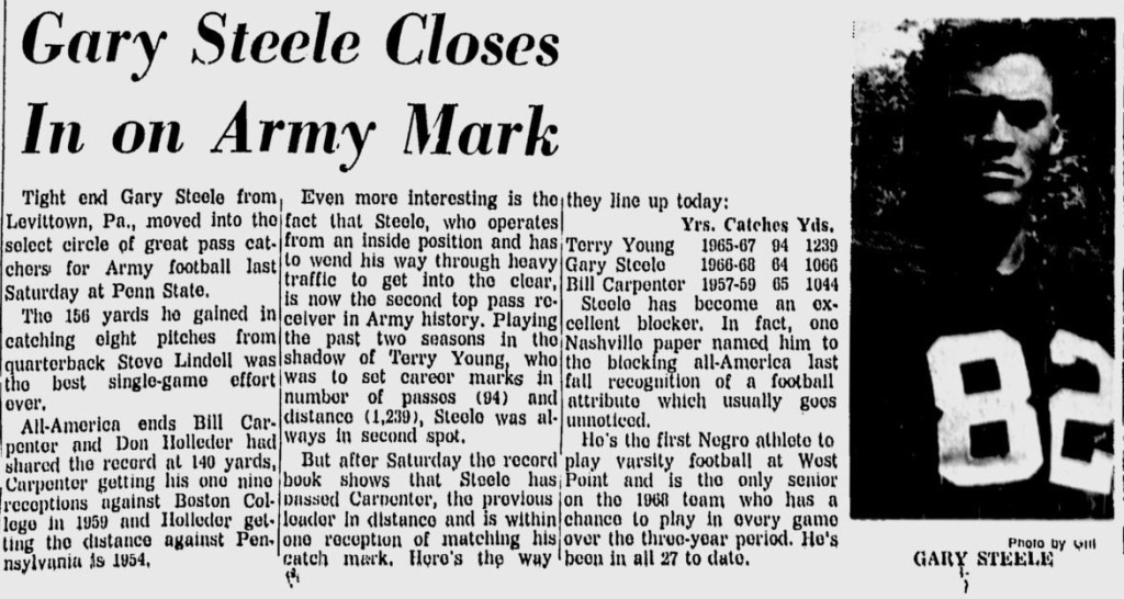 ArmyFB_1968_GarySteele_EveningNews_Nov51968