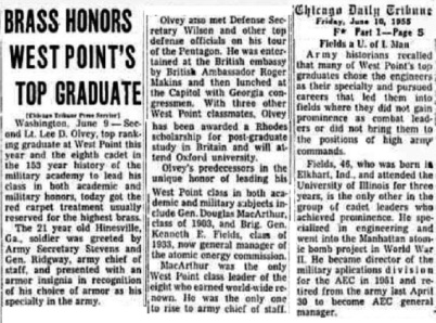 KennethEField_USMA1933_ChicagoTribune_Jun101955